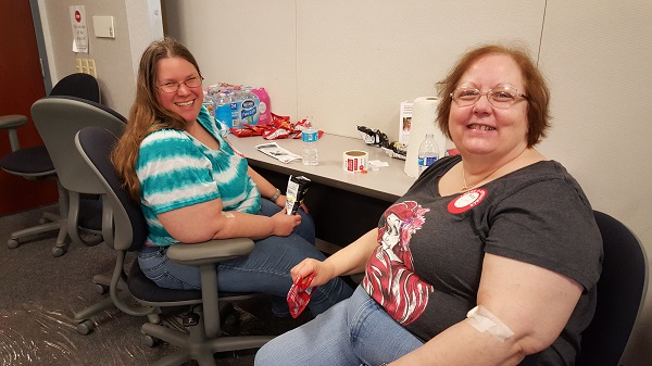 Debbie and Linda wrangled up some replenishing grub for the volunteers in our make-shift canteen.