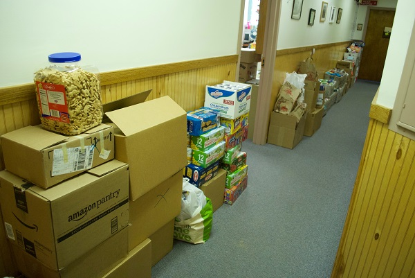 All that food is now crowding up the Loaves & Fishes hallways!