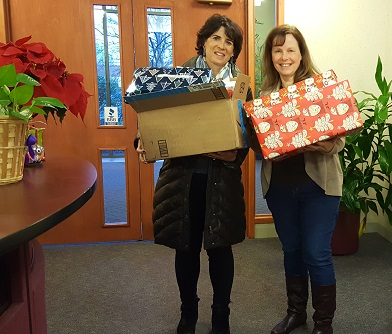 Kathy Piunti delivers our holiday gifts to Kids for Kyle.