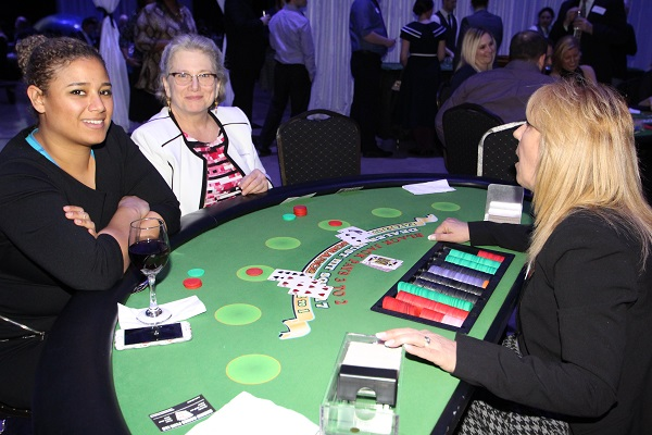 The ladies were killing it too at the blackjack table. (It helped that the dealers were a little more forgiving than the real world dealers).