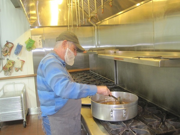 Rick making the chicken soup. It does the body good!