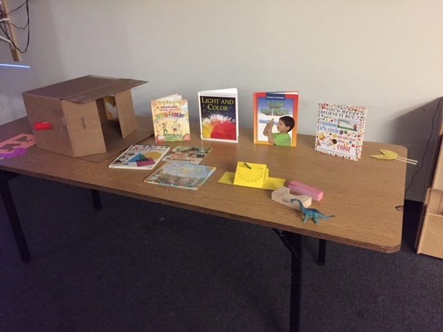 A sampling of books provided to a local STEM club.