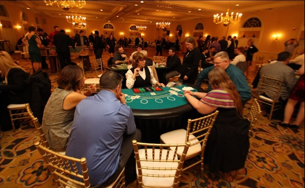 The tables were packed with seasoned gamblers and novices blowing their money for many good causes.